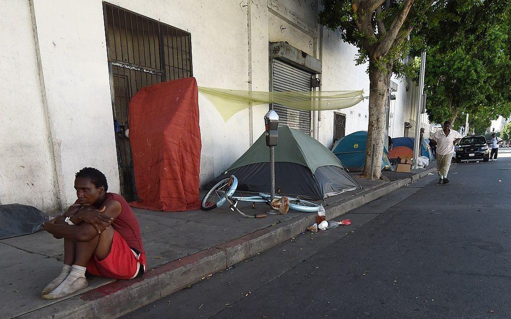 當地時間2015年9月23日,美國洛杉磯,由於無家可歸者的數量快速增長,洛杉磯市宣佈進入緊急狀態。圖/視覺中國