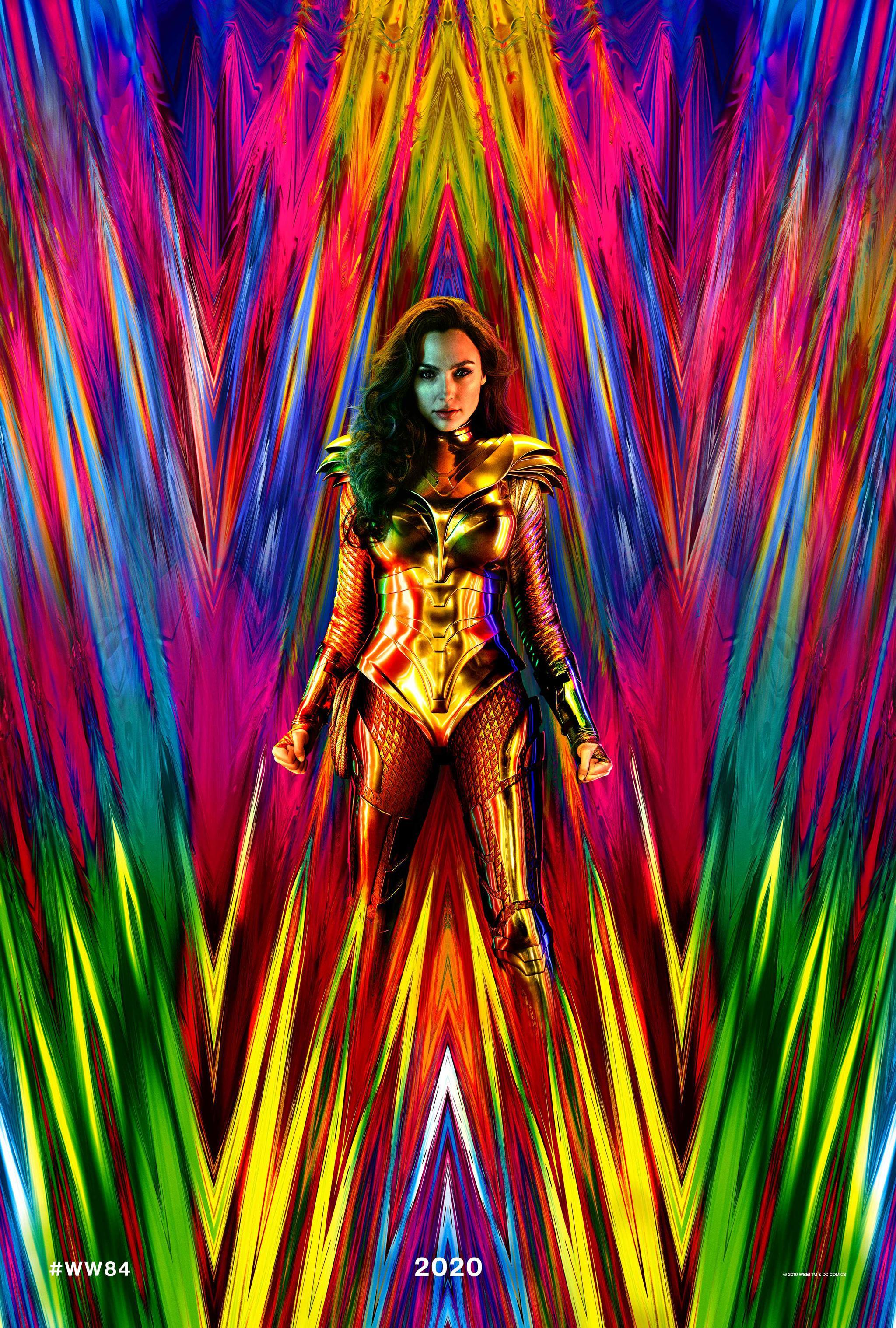 《神奇女侠1984》发首张海报,盖尔・加朵穿黄金圣衣