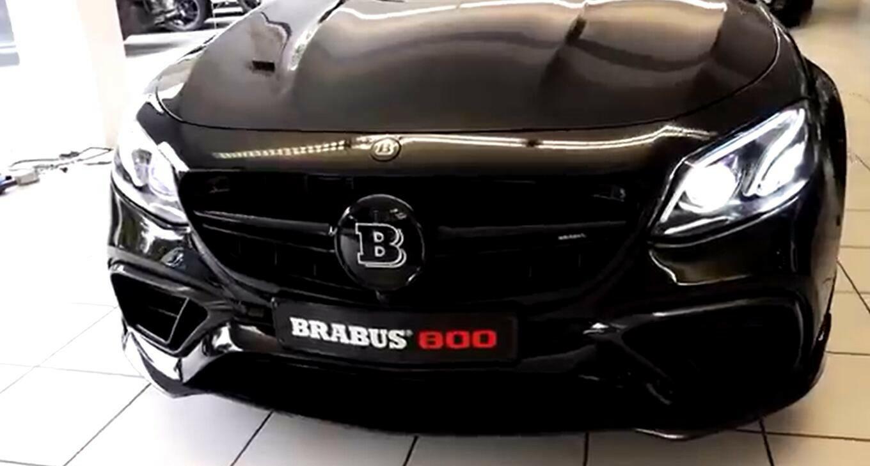 暴力美学加持的车型 奔驰AMG E63S 巴博斯800到店实拍