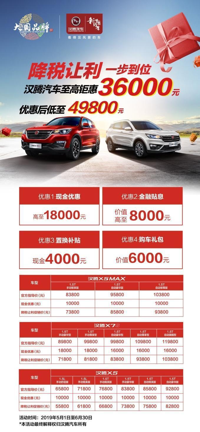 尽享高品质生活,汉腾X7S给你入手的三个理由!