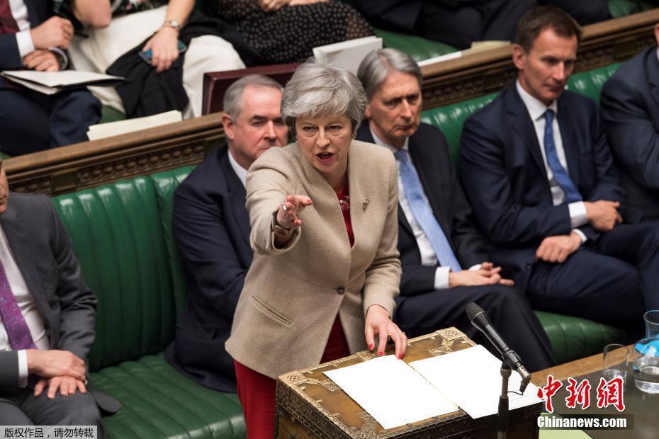 資料圖:當地時間2019年3月29日,英國議會表決脫歐協議,以344票反對、286票支持,第三次否決首相特蕾莎·梅的脫歐協議。