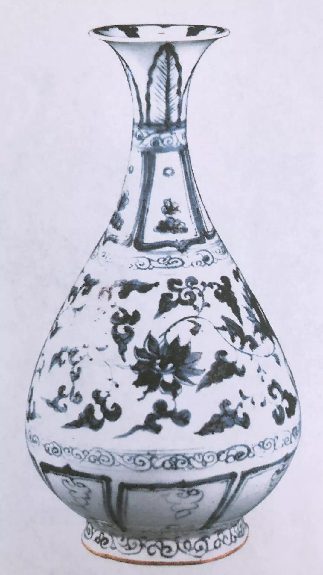 虎头崖出土了两件青花玉壶春瓶!被定为国家一级文物!