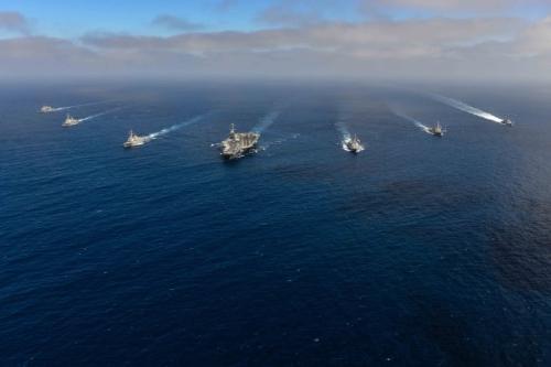 3艘航母载150架舰载机地中海军演,威慑力十足