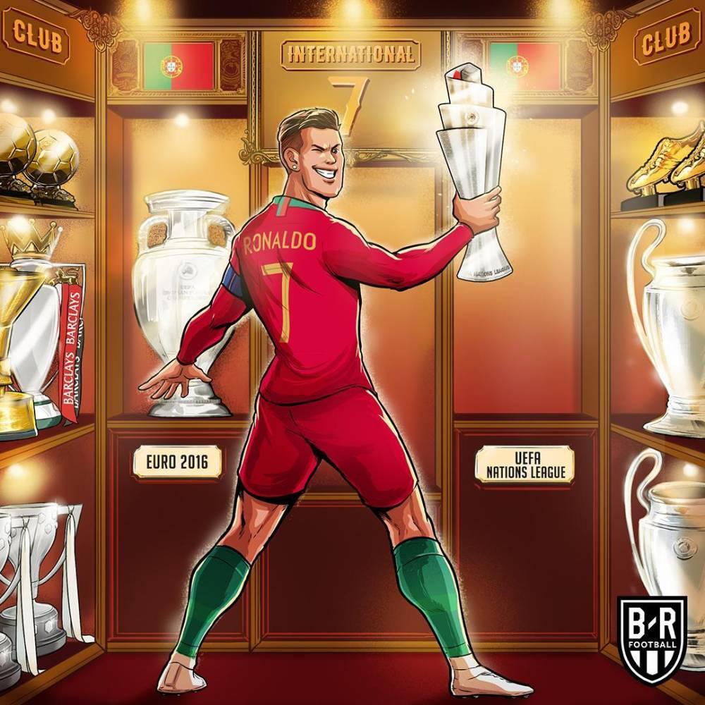 蓝天之约歌词 时隔3年率葡萄牙再捧杯,C罗生涯冠军数刷新至31个