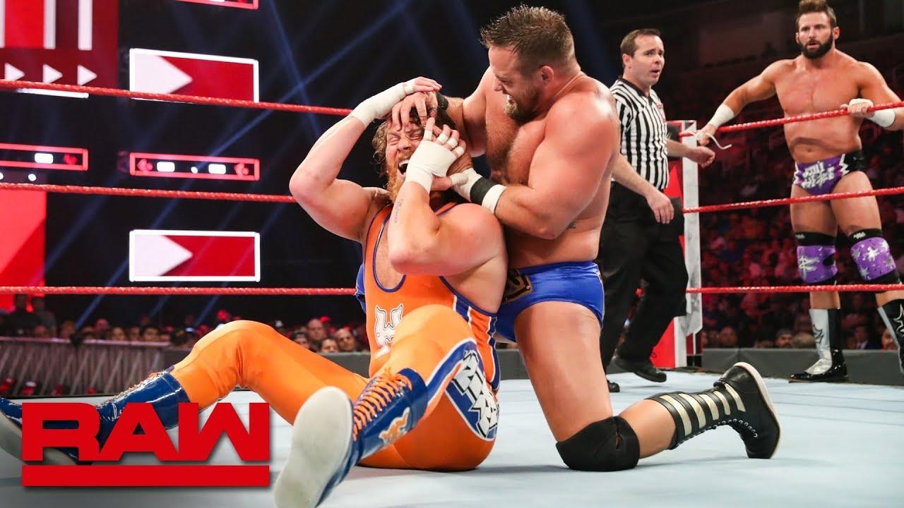 RAW双打冠军三重威胁赛 札克-里德科特-霍金斯痛失冠军