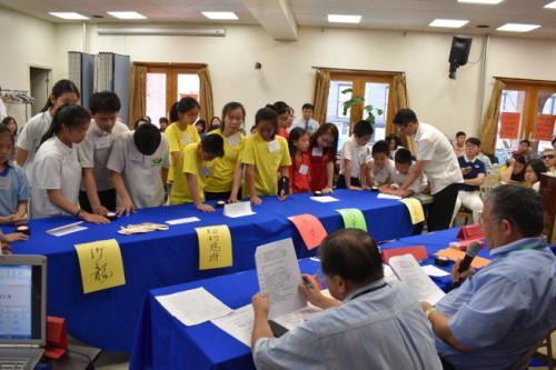 第12届联成杯青少年中华文化常识问答比赛。(图片来源:美国《世界日报》记者颜嘉莹摄影)