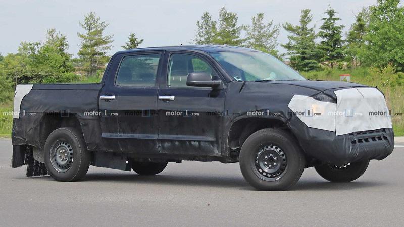 新款丰田Tundra测试谍照 将采用混动系统