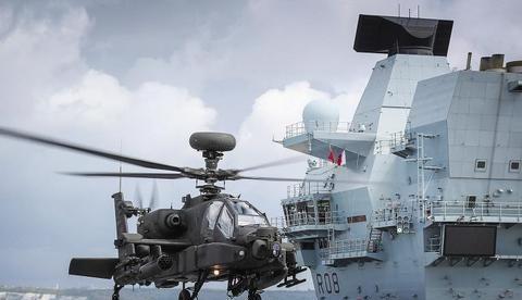 曾经的大英帝国如今多惨,有航母没舰载机,只能用直升机冒充