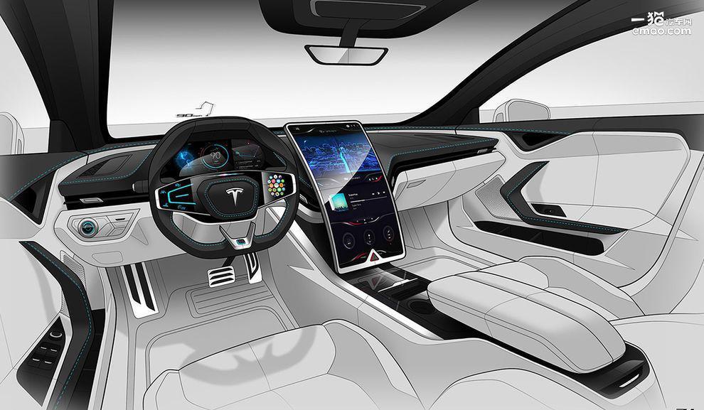 """特斯拉真的""""狠"""" 全新Model S渲染图曝光"""