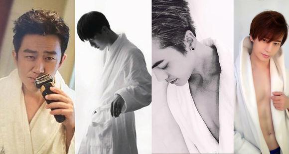 为什么陈奕天黄轩杨洋陈伟霆都喜欢穿白色浴袍露腹肌