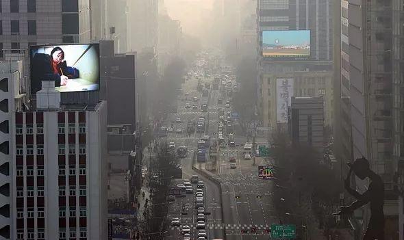 韩国雾霾资料图