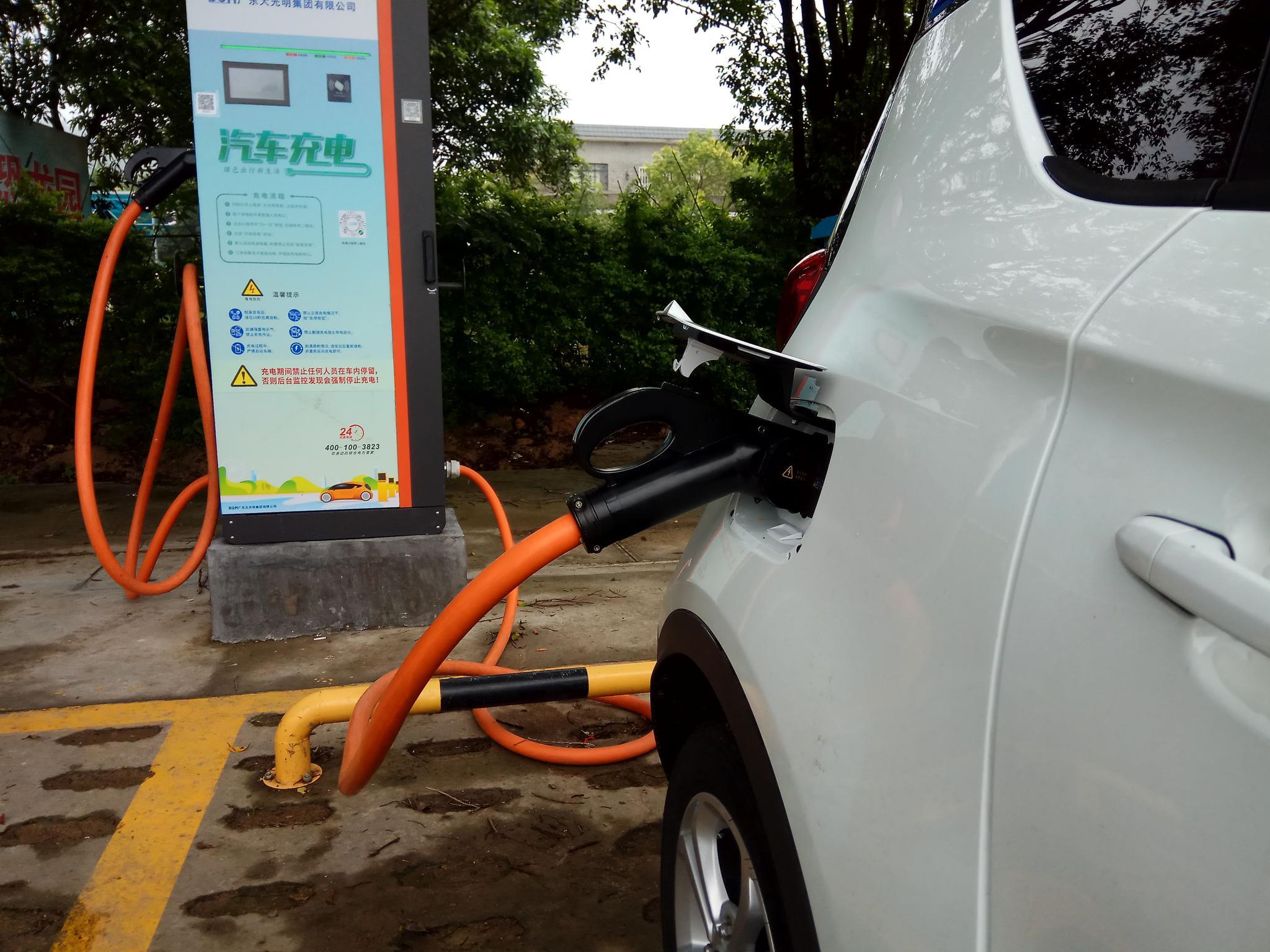 新能源汽车充电遇尴尬 江门今年将新增一批充电桩