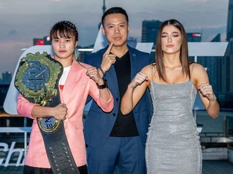 ONE冠军赛上海站见面会,中国健将表情轻松,主赛美女选手吸睛