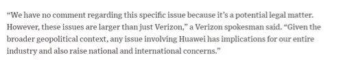 外媒:华为已要求美国公司支付高额专利费用