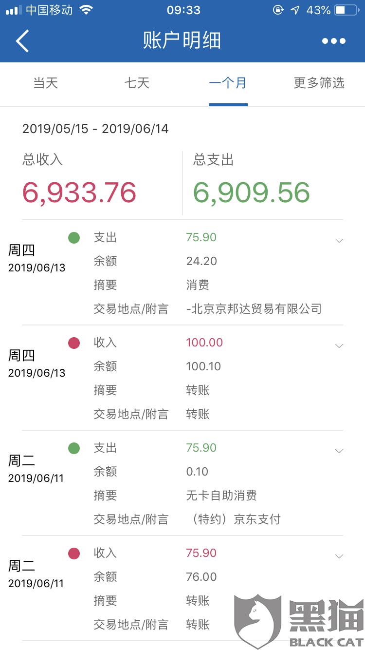黑猫投诉:京东金融退款上显示交易成功,但退款并未到账(已解决)