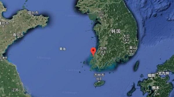 新安古沉船大致位置图 谷歌地图