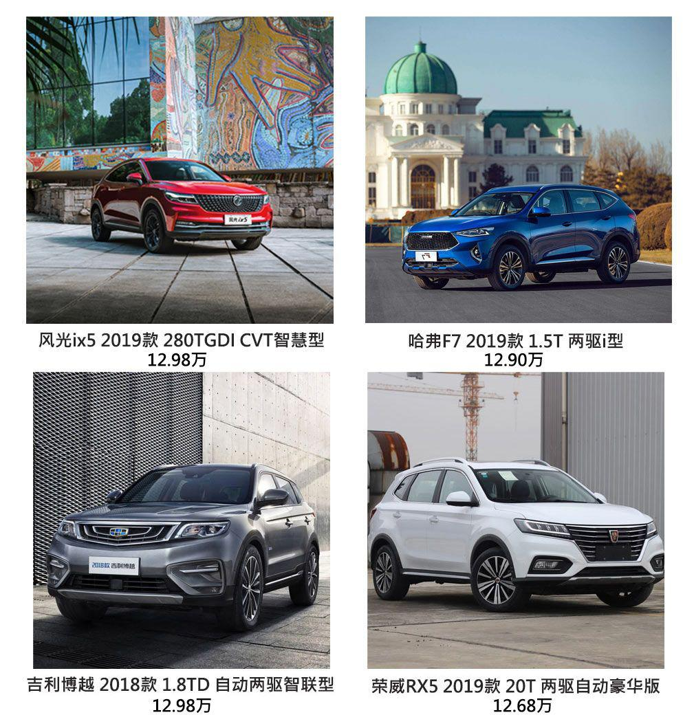 风光ix5、哈弗F7、吉利博越、荣威RX5谁是汽车领域的弄潮儿?