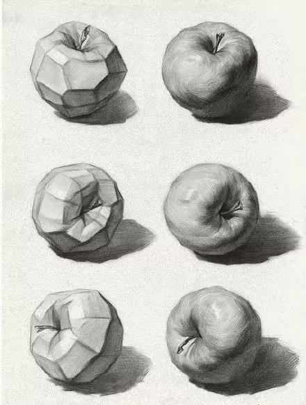 苹果是画素描静物基础的物体 其实画素描苹果还是非常简单的 重要的