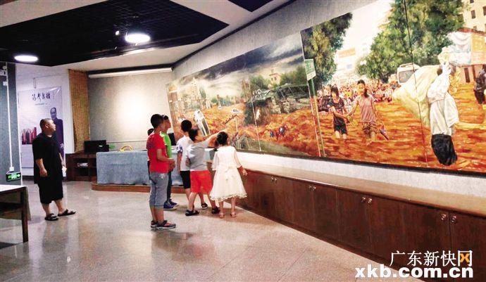 梅州展出巨幅抗洪史诗油画长卷