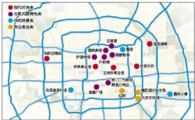 特色商業街分佈圖