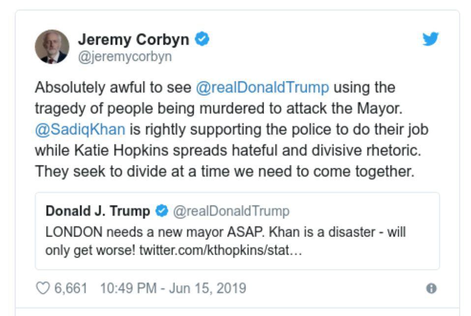 """伦敦24小时内连发5起暴力伤人事件,特朗普""""操碎了心"""""""
