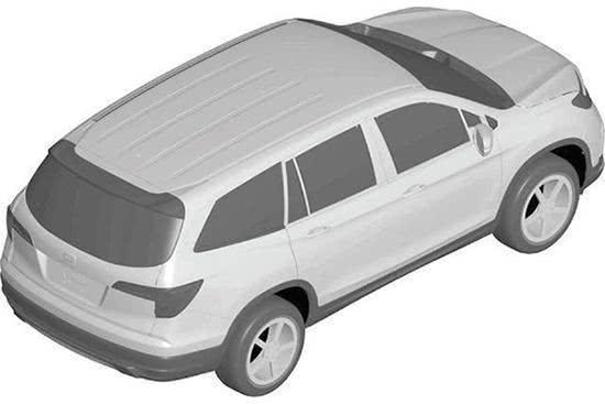 竞争汉兰达,本田将在国内引进7座SUV,Pilot专利图曝光