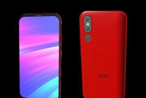 小米MIX4概念图:极窄边框设计 后置三颗摄像头