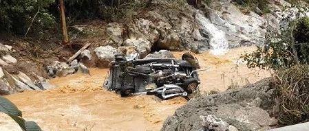 百色凌云遭遇山体滑坡山洪暴发:6人死亡 6车被冲走