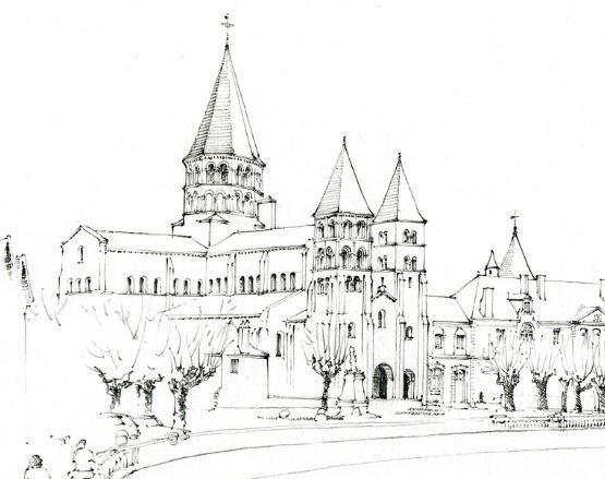美图:简单的手绘图,也能勾勒出建筑的主体美