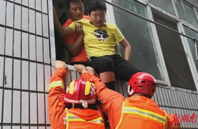 [岳阳] 大水围困,16名中考生等来了消防员