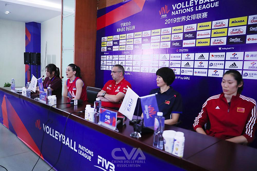 2019世界女排联赛中国-塞尔维亚 赛后新闻发布会