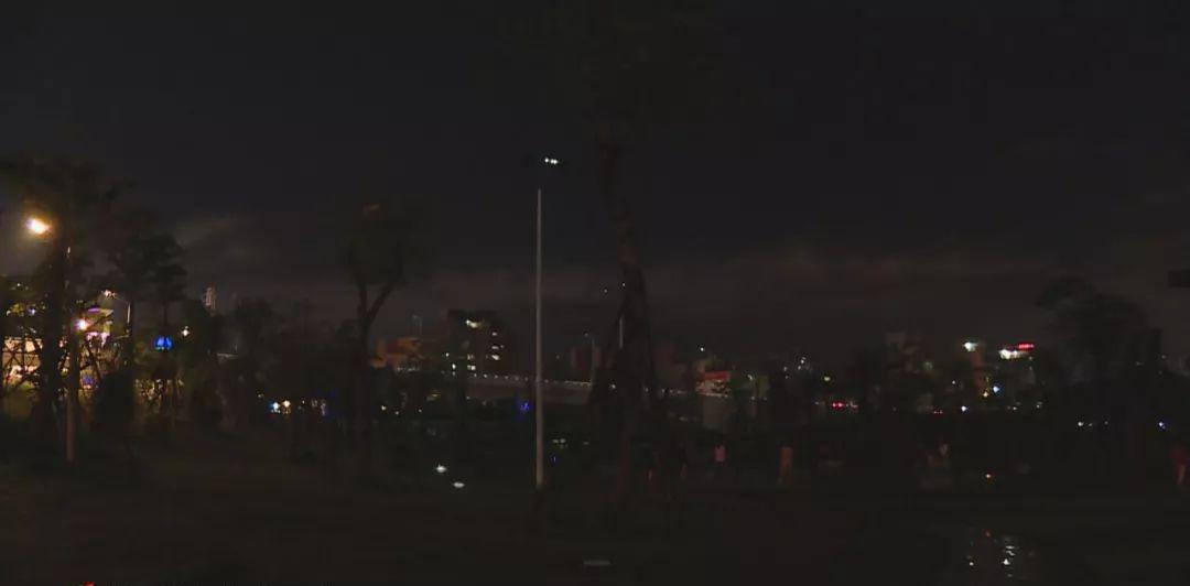 潮州凤城公园C区路灯照明异常,目前已经修复完毕