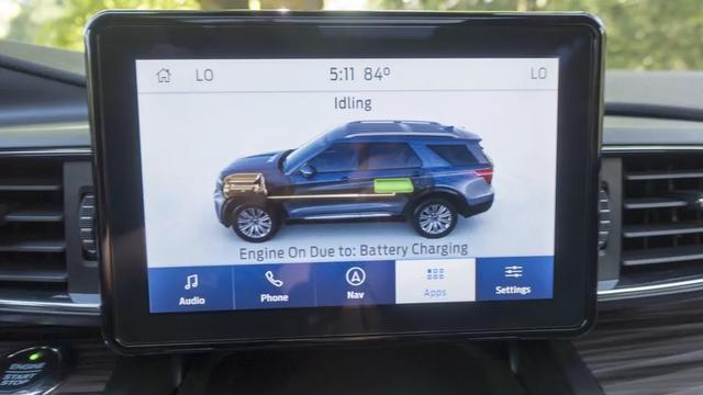 2020福特Explorer混合动力车型,靓丽蓝