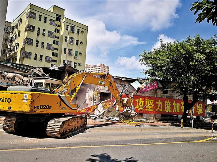 强力拆除5处违法建筑