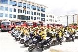大理州消防救援支队携手大理美团举行消防志愿服务活动