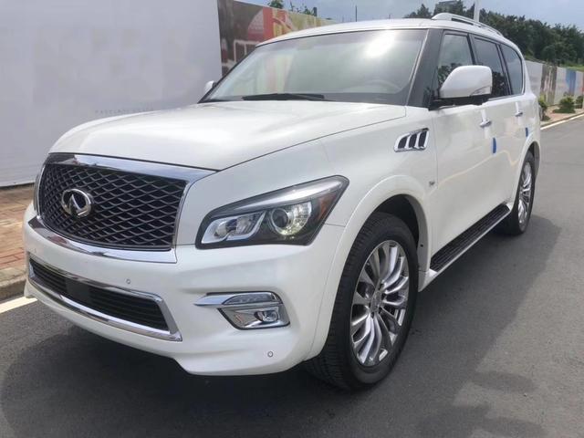2018款英菲尼迪QX80,白色的车身