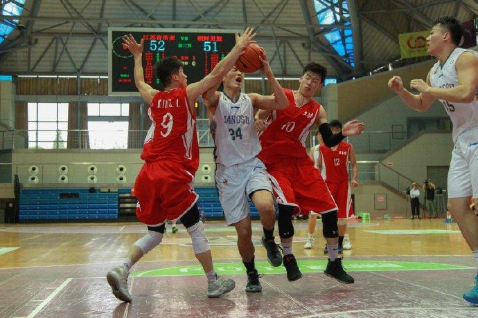 苏朝男篮友谊赛江苏肯帝亚击败朝鲜队