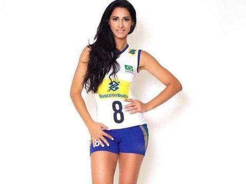 巴西女排身材,符合国际审美!男同胞排球迷心目中的女神