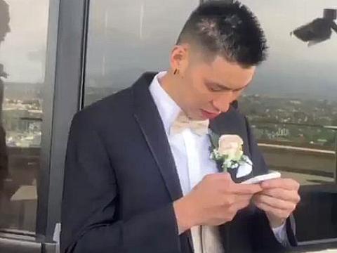 帅气抢镜!林书豪为训练师当伴郎,婚礼上和漂亮伴娘搞怪互动
