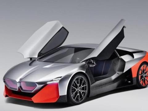 宝马最新概念跑车,车身造型媲美兰博基尼,混动驱动仅3秒破百!