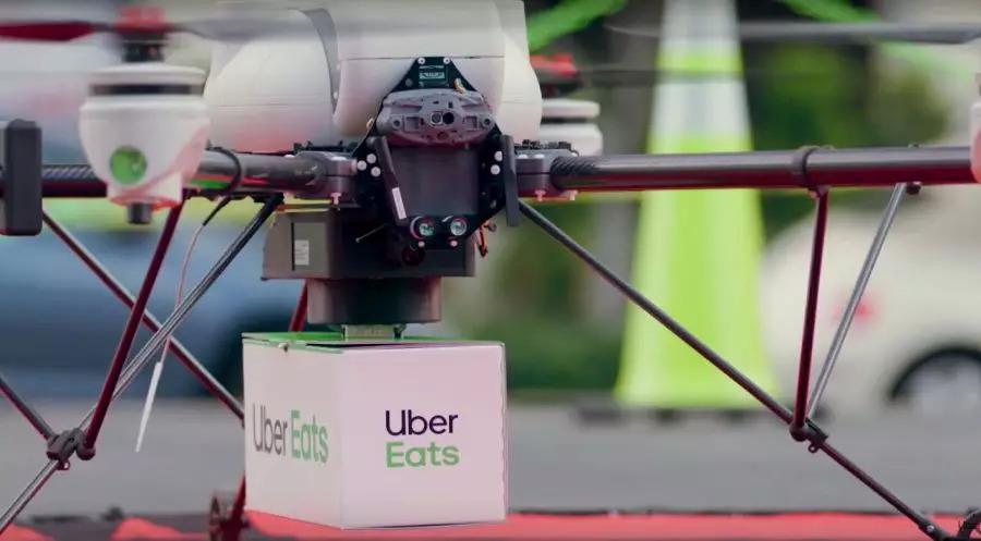 飞来外卖!Uber将在美国圣地亚哥用无人机送餐