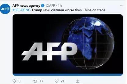 """而不少同样关注到此事的美国网民则怀疑川普是不是又要对越南""""开战""""了。"""