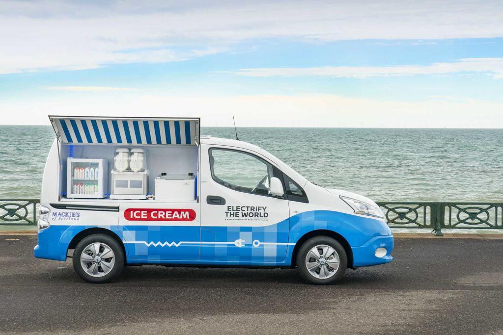 日产e-NV200 Ice Cream Concept概念车官图发布
