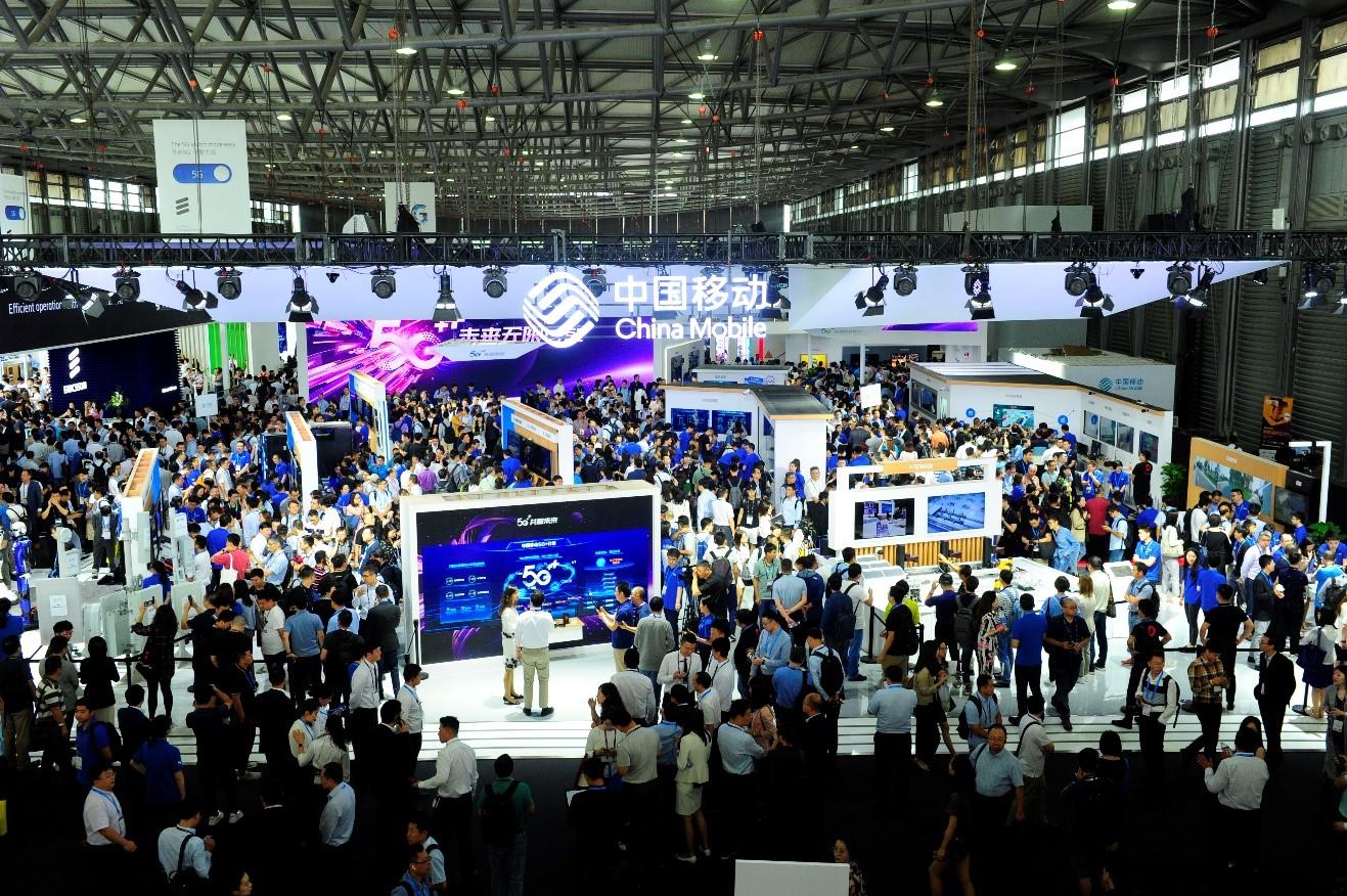"""2019 MWC上海现场 中国移动全景展示""""5G+新型智慧城市"""""""