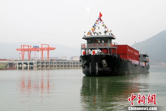 嘉陵江實現全江通航千噸級船舶可從四川廣元直達上海