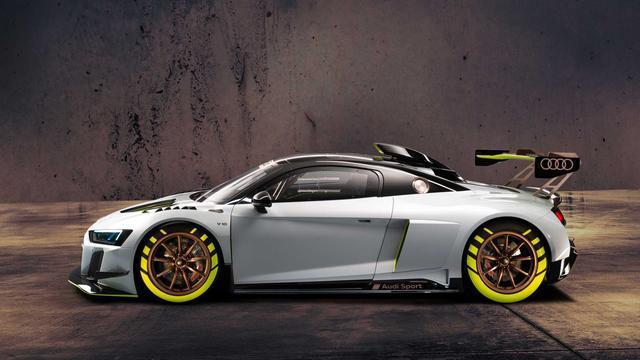 2020款奥迪R8 LMS GT2赛车开始接受预定,5.2升630匹马力,霸气