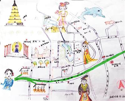 高速收费站员工 手绘旅游地图送游客