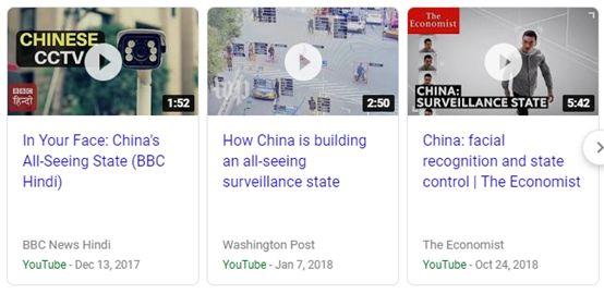 """▲图为西方媒体对中国的人脸识别技术""""整齐划一""""的抹黑,其文章的套路也全都""""如出一辙"""""""