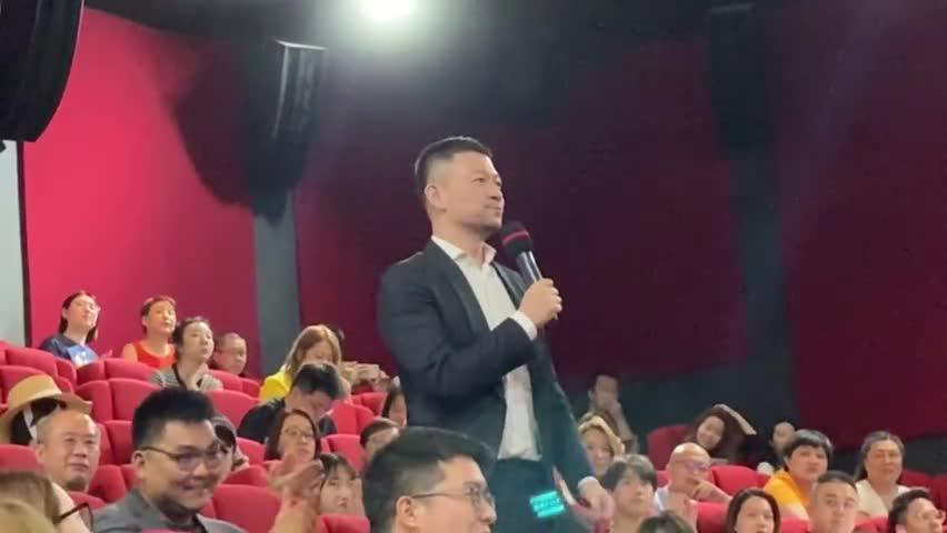 《流浪地球》导演郭帆亮相《扫毒2》北京首映映后见面会