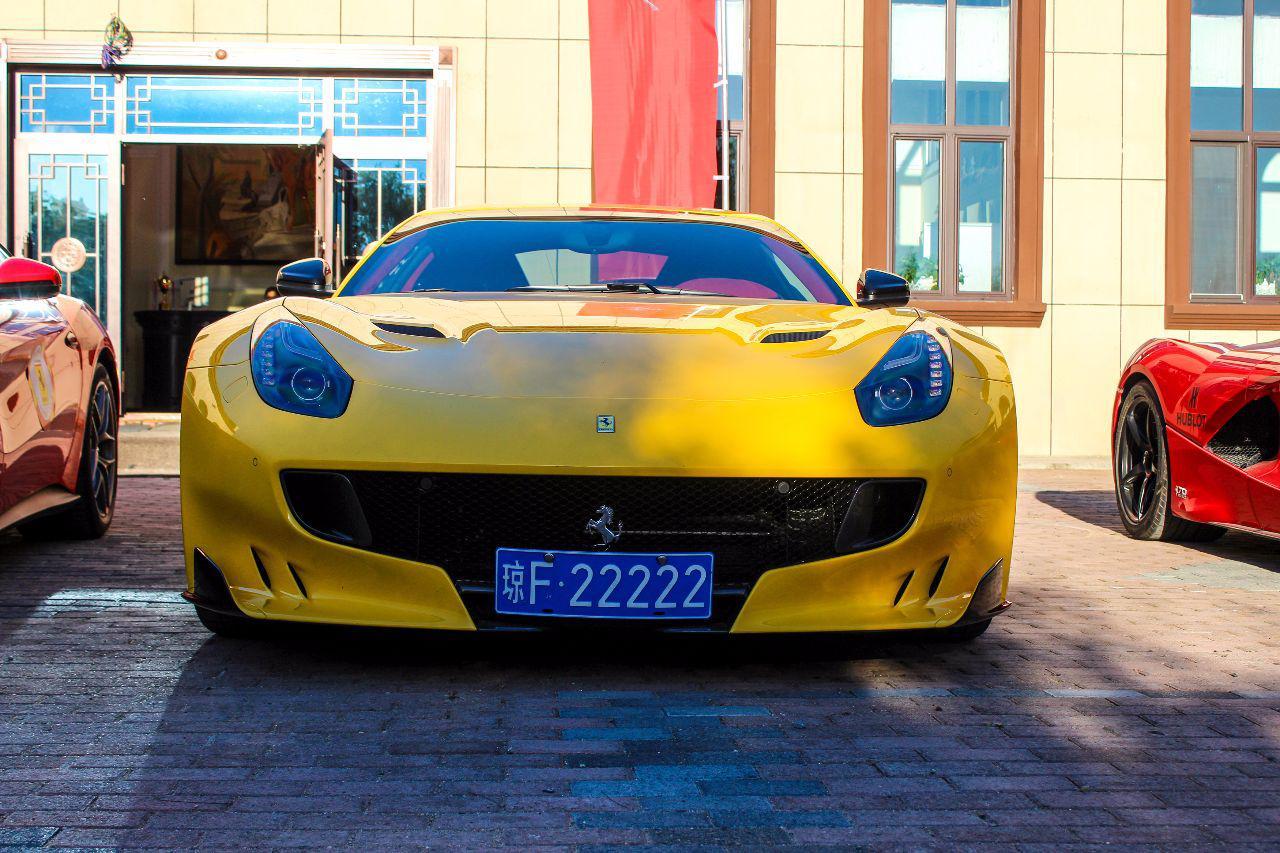 5连号法拉利海南省有两台,琼F22222,身价比房价高